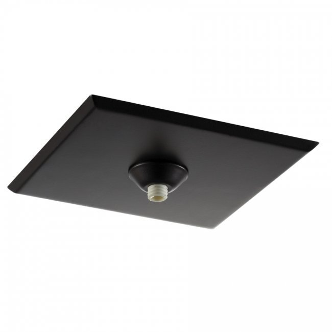 Square low profile quick connect canopy for junction box in dark bronze