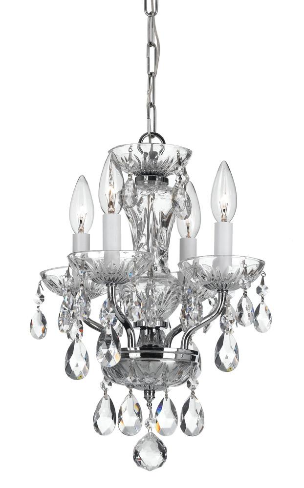 Crystorama traditional crystal 4 light chrome mini chandelier crystorama traditional crystal 4 light chrome mini chandelier aloadofball Choice Image
