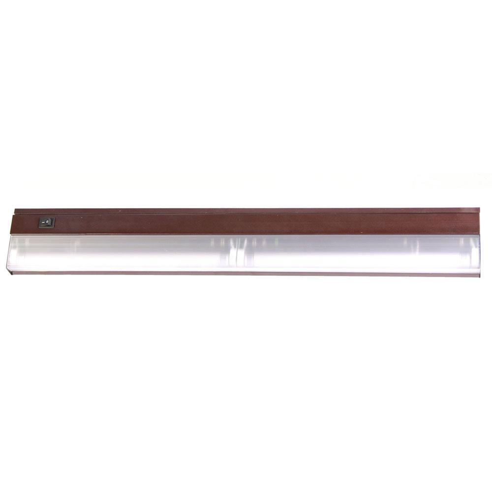 Fluorescent Undercabinets Collection 2-Light 24-inch Bronze Light ...