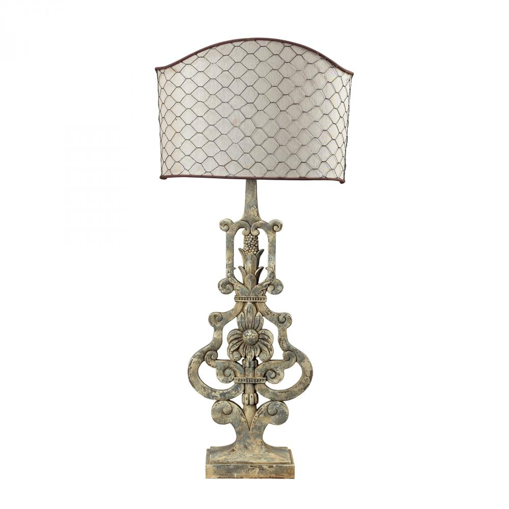 Avignon Table Lamp With Chicken Wire Shade : 6V2R2 | Lighting World Inc.
