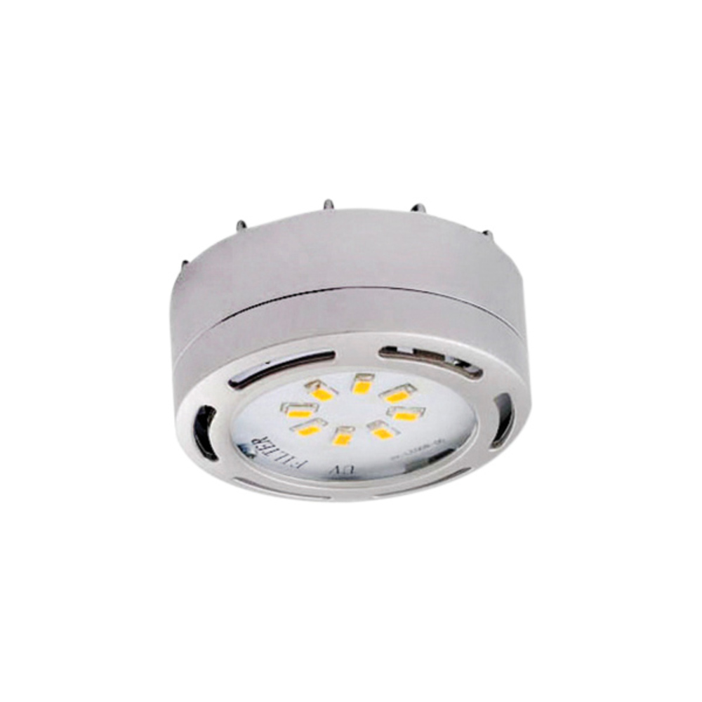3580 Led Pln C Undercabinet 120v Linkable Puck Light Nickel